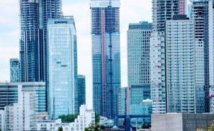 blue city building scenery